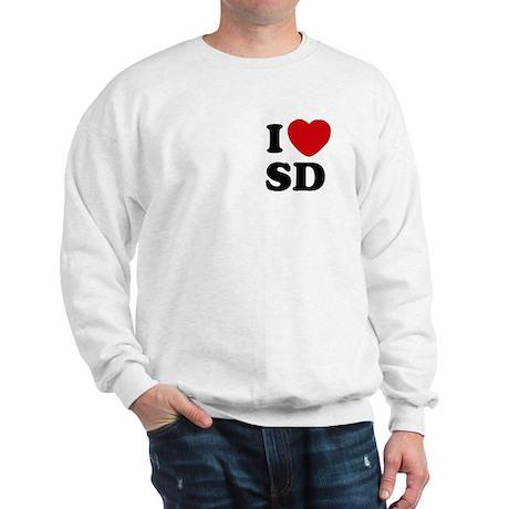 I Love San Diego SD Two Sided Sweatshirt