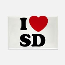 I Love San Diego Rectangle Magnet