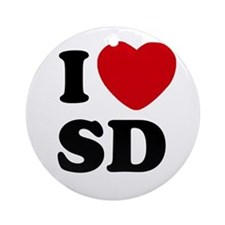 I Love San Diego Ornament (Round)