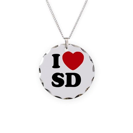 I Love San Diego Necklace Circle Charm