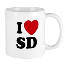 I Love San Diego Coffee Beverage Mug