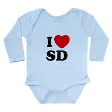 I Love San Diego Long Sleeve Infant Bodysuit