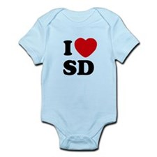 I Love San Diego Infant Onesie Bodysuit