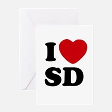 I Love San Diego Greeting Gift Card