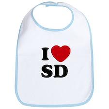 I Love San Diego Baby Bib