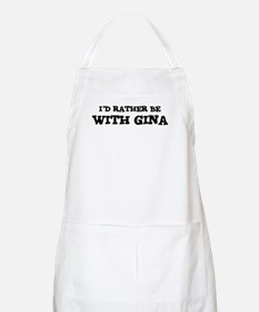 With Gina BBQ Apron