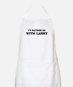 With Larry BBQ Apron