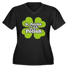 St. Patrick wuz Polish Women's Plus Size V-Neck Da
