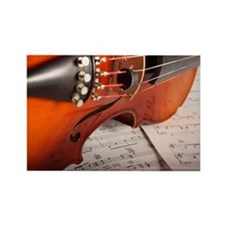 Violin Rectangle Magnet