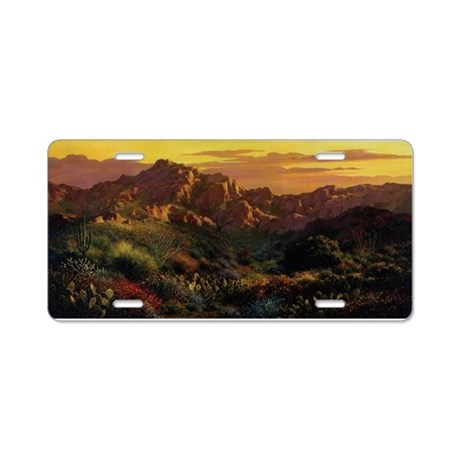 Arizona Desert Aluminum License Plate