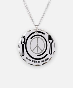 Peace on Plate Necklace