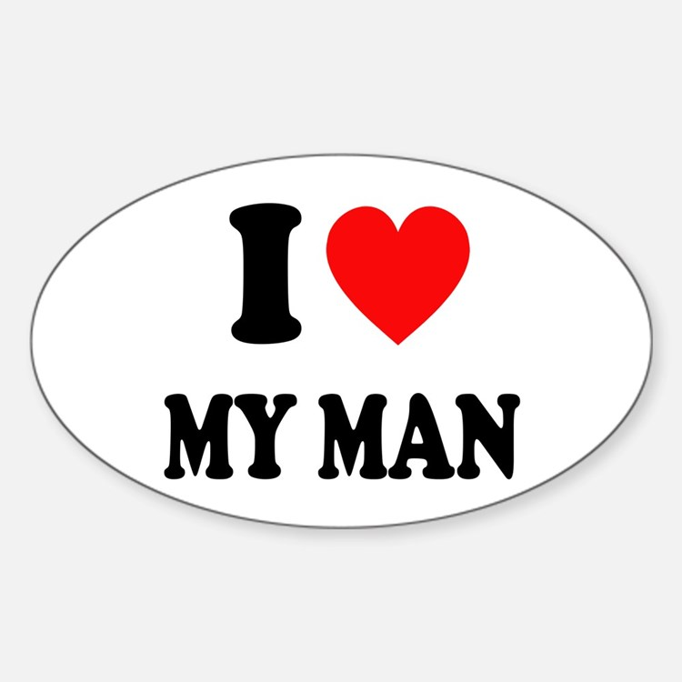 I Love My Man: Sticker (Oval)
