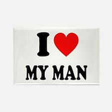 I Love My Man: Rectangle Magnet