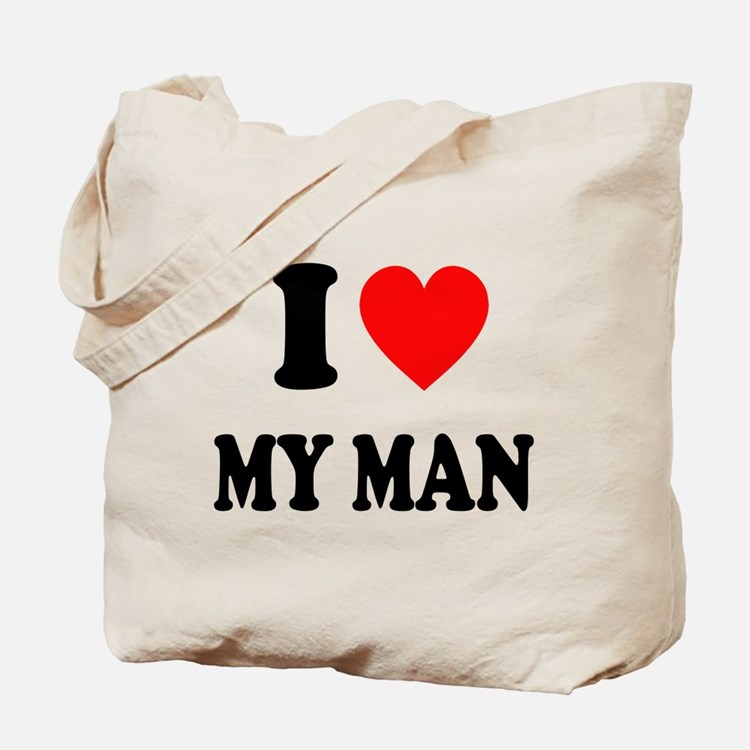 I Love My Man: Tote Bag