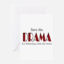 Drama Dancing With Stars Greeting Card