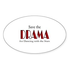 Drama Dancing With Stars Sticker (Oval)