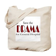 Drama on General Hospital Tote Bag