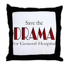 Drama on General Hospital Throw Pillow