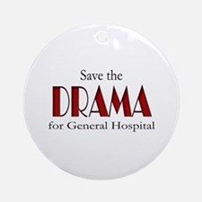 Drama on General Hospital Ornament (Round)