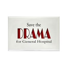 Drama on General Hospital Rectangle Magnet