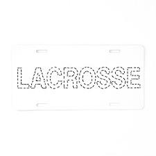 Lacrosse Stitch Aluminum License Plate