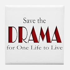 Drama One Life to Live Tile Coaster