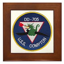 USS COMPTON Framed Tile
