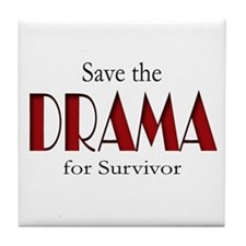 Drama on Survivor Tile Coaster
