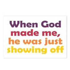 God Showing Off Postcards (Package of 8)