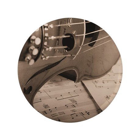 "Violin Sepia 3.5"" Button (100 pack)"