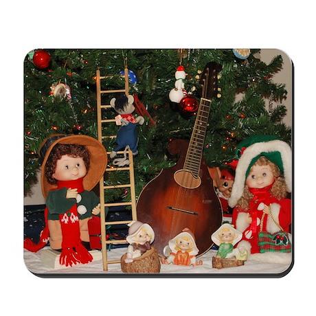 Elf Mandolin and Christmas Dolls Mousepad
