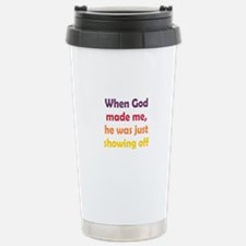 God Showing Off Travel Mug
