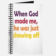 God Showing Off Journal