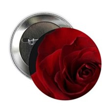 """Red Rose R 2.25"""" Button"""