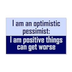 Optimistic Pessimist Wall Decal