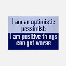 Optimistic Pessimist Rectangle Magnet (10 pack)