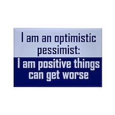 Optimistic Pessimist Rectangle Magnet