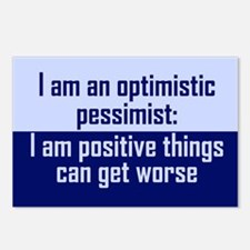 Optimistic Pessimist Postcards (Package of 8)