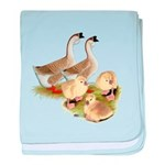 Buff African Goose Family baby blanket