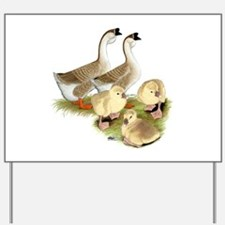 Buff African Goose Family Yard Sign