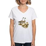 Buff African Goose Family Women's V-Neck T-Shirt