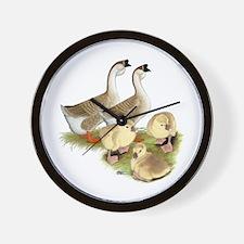 Buff African Goose Family Wall Clock