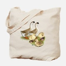 Buff African Goose Family Tote Bag