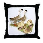 Buff African Goose Family Throw Pillow