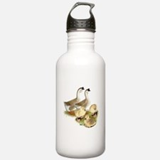 Buff African Goose Family Water Bottle
