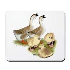 Buff African Goose Family Mousepad