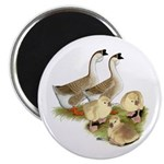 Buff African Goose Family Magnet