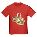Buff African Goose Family Kids Dark T-Shirt