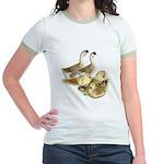 Buff African Goose Family Jr. Ringer T-Shirt