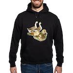 Buff African Goose Family Hoodie (dark)